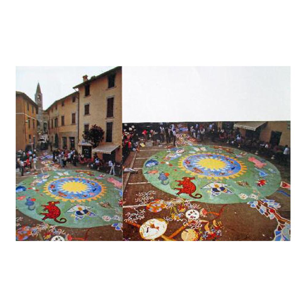 collettivo di pittura di una pubblicia piazza